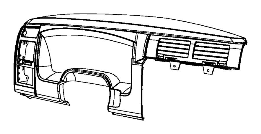 2011 Dodge Dakota Bezel. Instrument cluster. [jj]. Trim