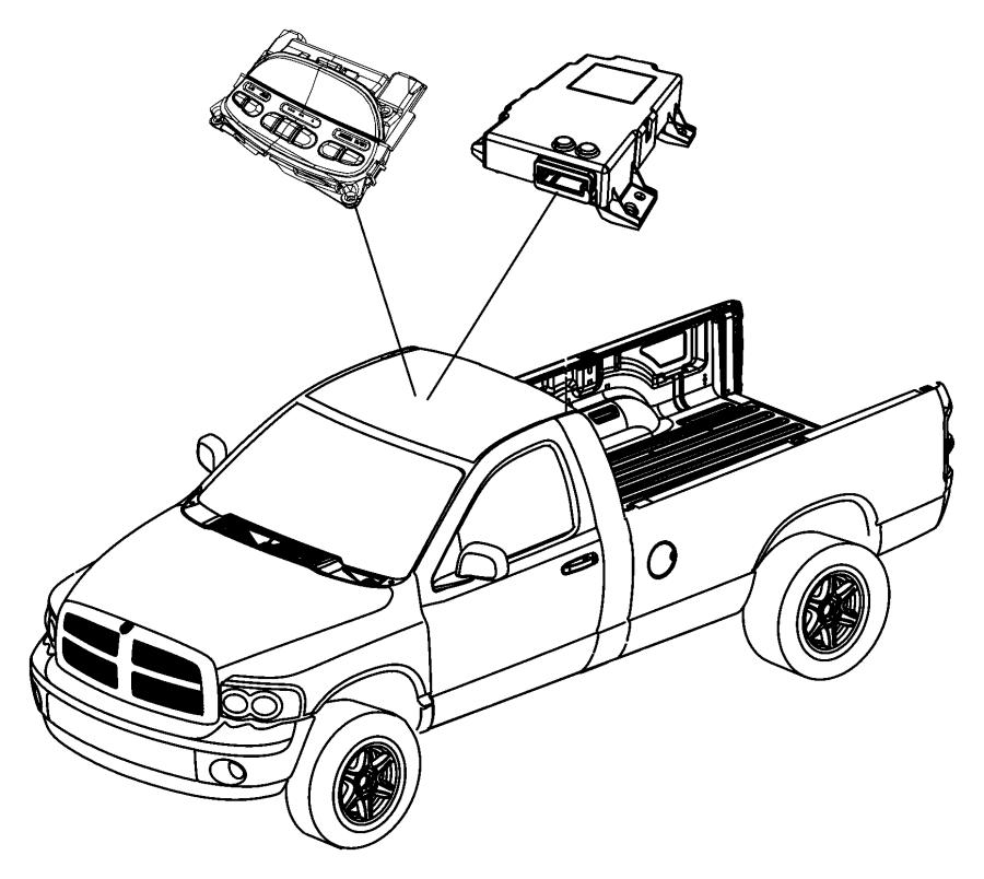 Dodge Ram 1500 Module. Compass. Trim: (*o0