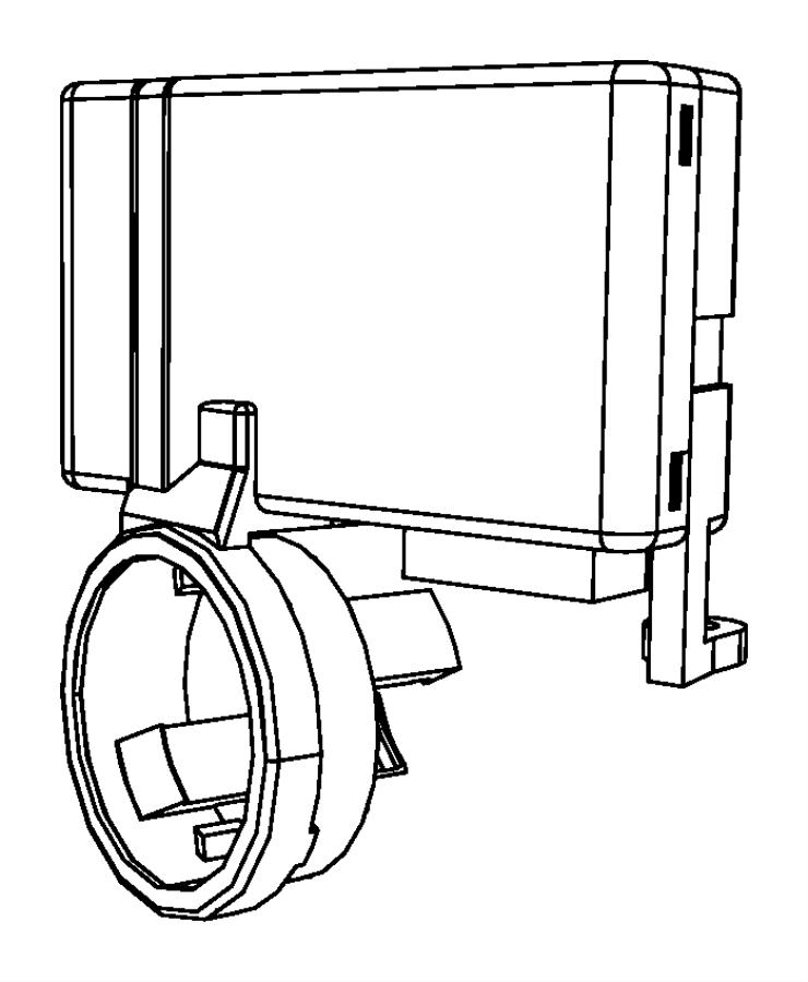 Dodge Ram 2500 Receiver. Control module. Blackbluem