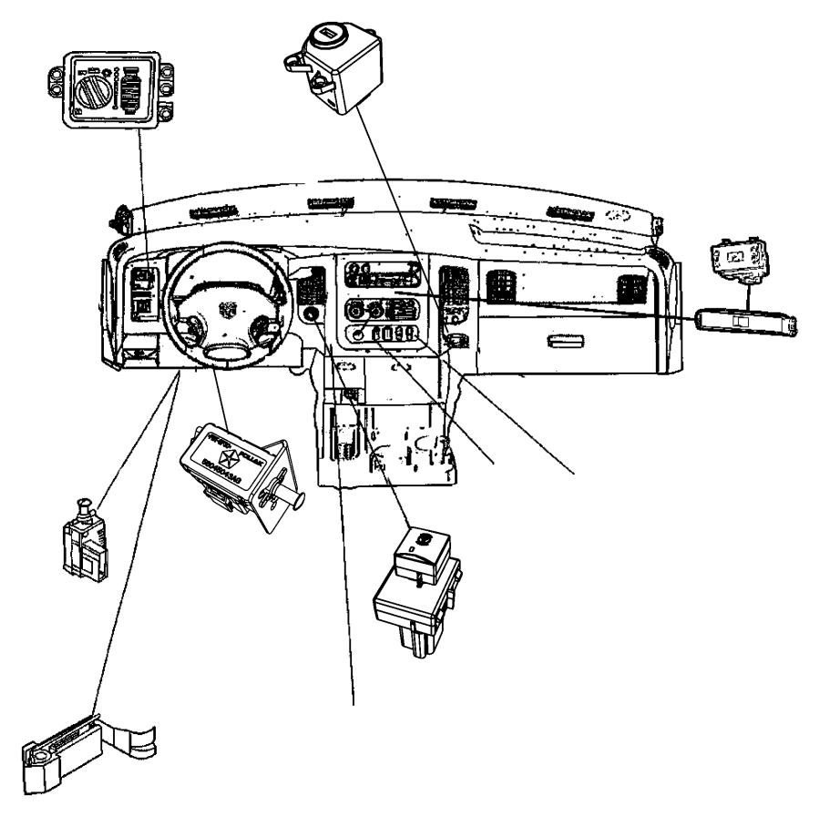 2007 Dodge Ram 1500 Switch. Power window. Trim: [all trim