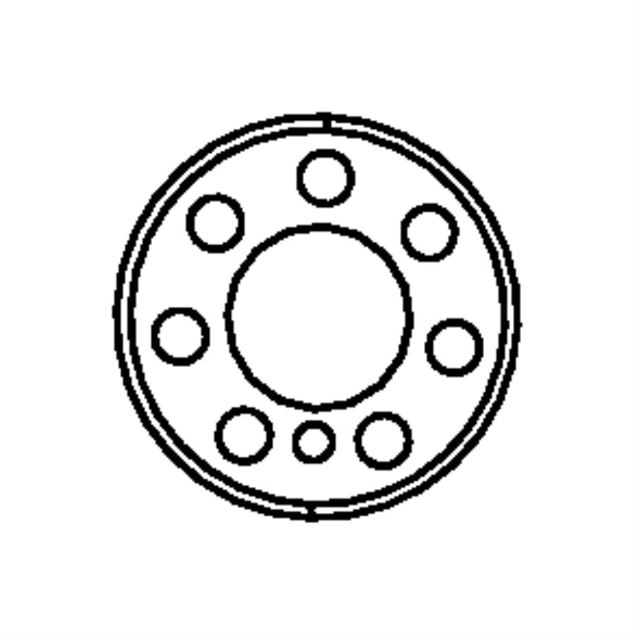 2007 Jeep Compass Backing plate, plate. Flexplate backing