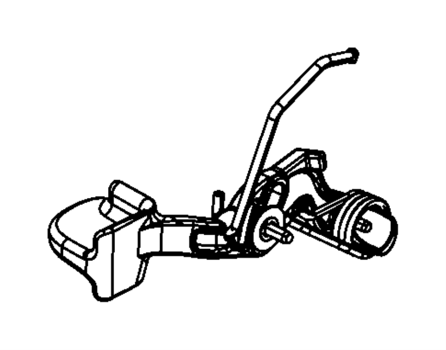 Dodge Ram 1500 Lever. Tilt column release. Trim: [no