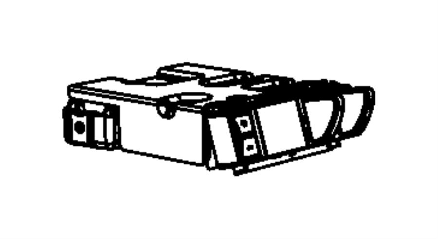 2011 Dodge Ram 1500 Module. Integrated trailer brakes