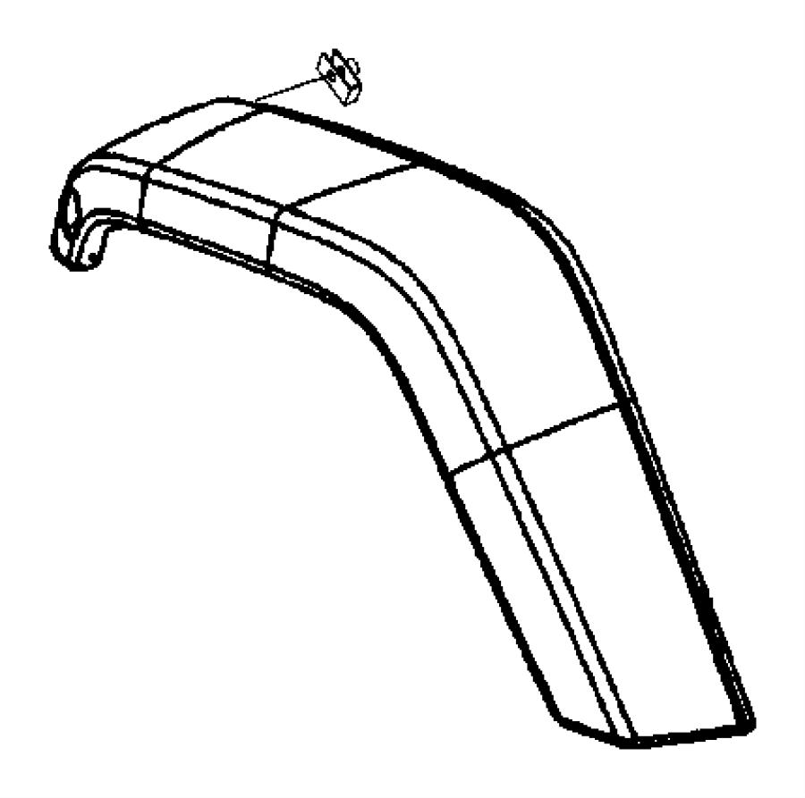 Jeep Wrangler Applique, molding. Fender wheel opening