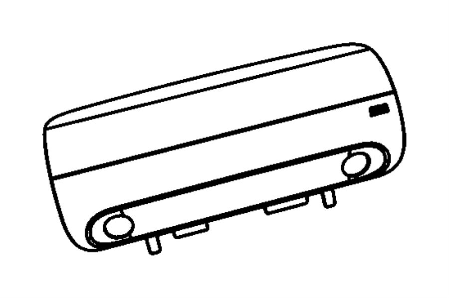 2010 Jeep Wrangler Door. Passenger air bag. [dd]. Trim