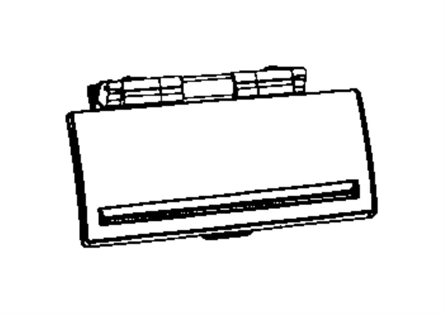 Dodge Ram 1500 Door. Glove box. Upper. Trim: [all trim