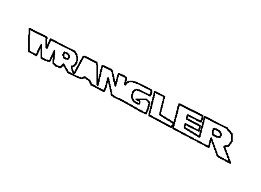 Jeep Wrangler Decal. Wrangler unlimited. Color: [no