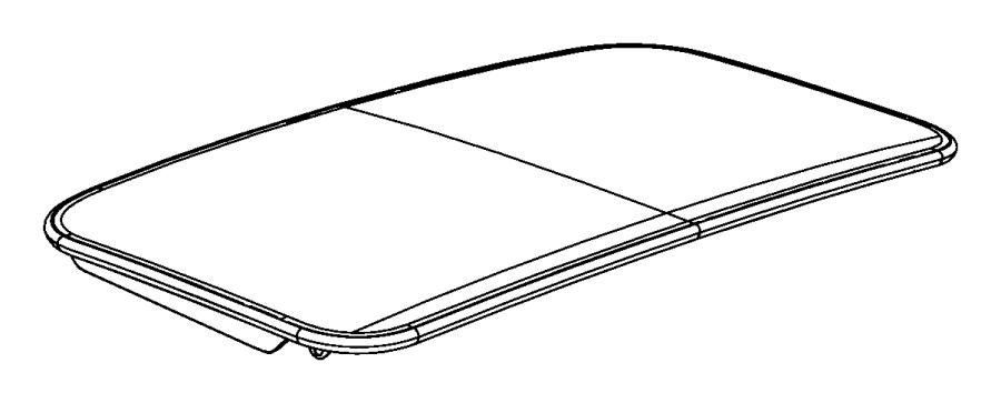 2008 Jeep Liberty Seal. Sunroof glass. Trim: [no