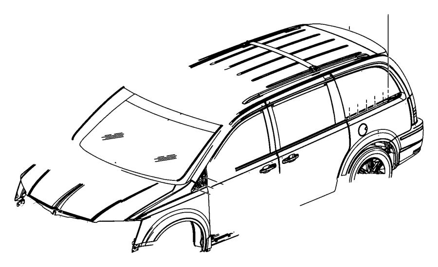 2012 Chrysler Town & Country Applique. Sliding door