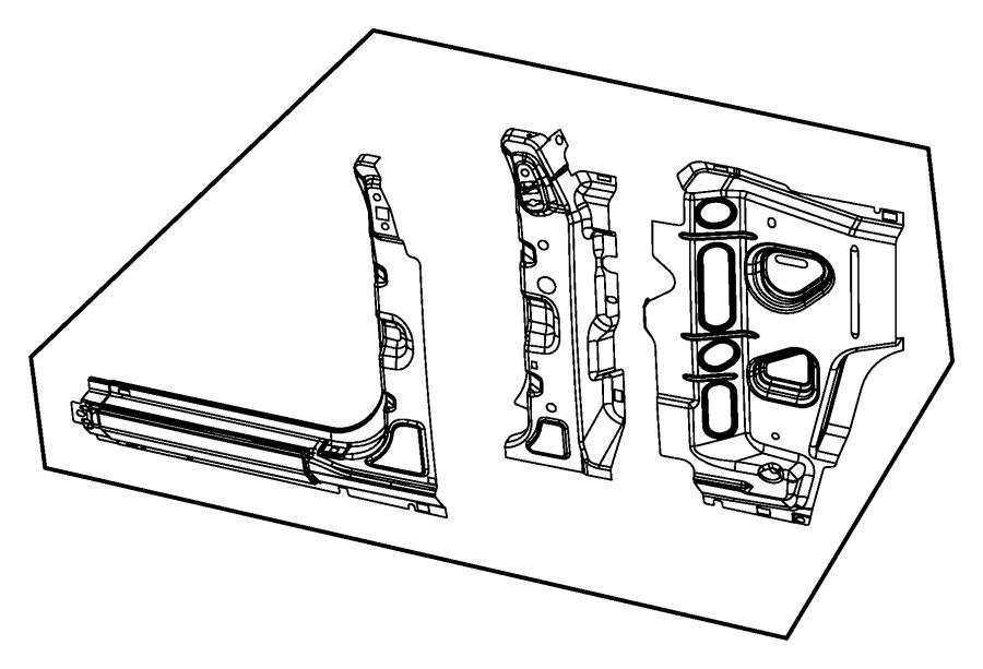 Jeep Wrangler Panel. Body side aperture front. Left
