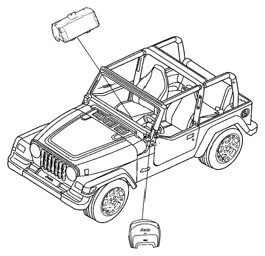 2012 Jeep Wrangler Air bag. Export. Passenger