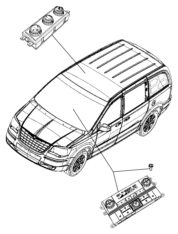 2011 Chrysler Town & Country Control. Used for: a/c and