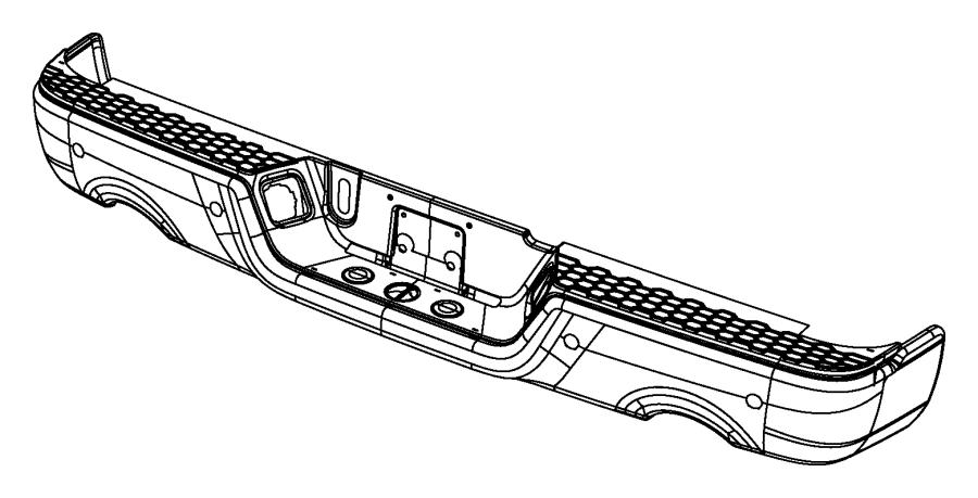 Dodge Ram 1500 Bumper, bumper assy. Rear, step. Bumperdual