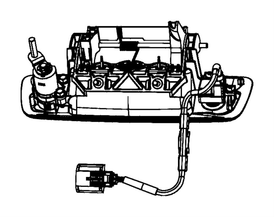 2012 Dodge Ram 2500 Handle. Tailgate. Tailgateblacklt