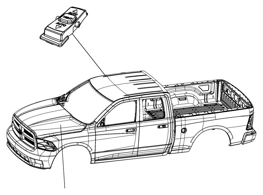 2012 Dodge Ram 1500 Switch. Power window. Sliding window