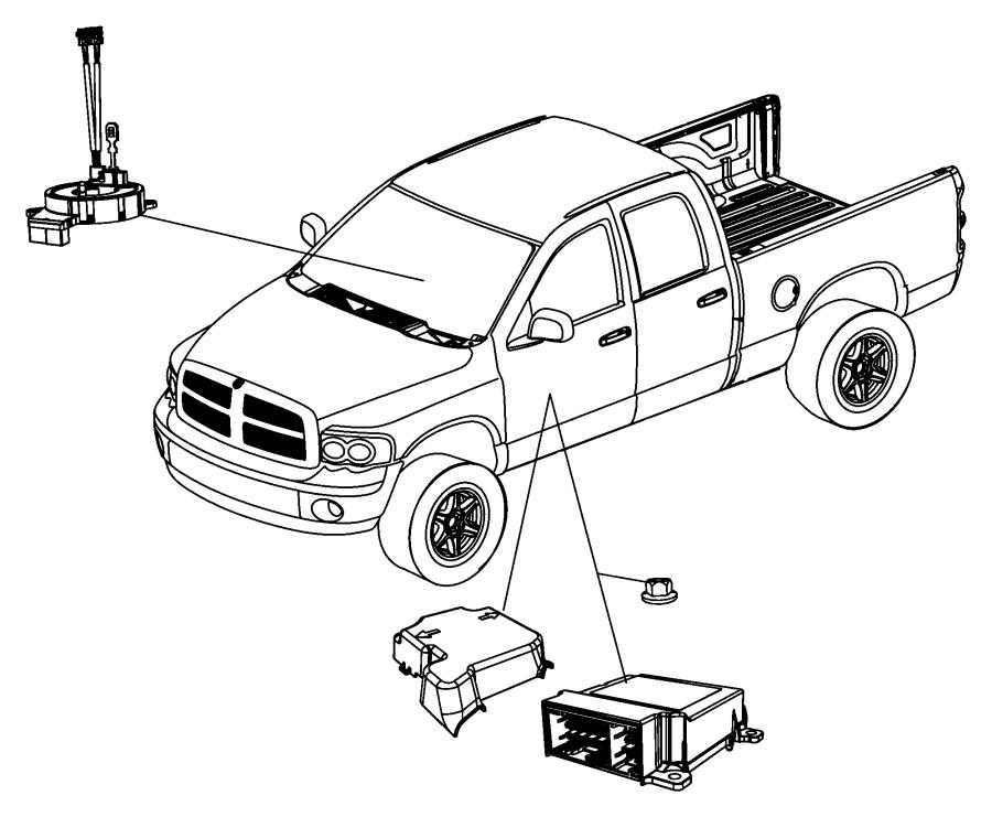 2012 Dodge Ram 5500 Clockspring. Steering column control