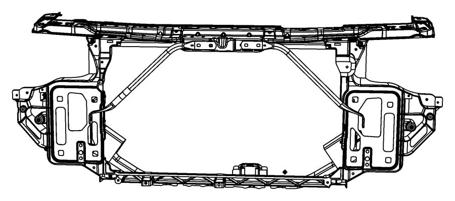 2010 Chrysler Sebring Brace. Radiator crossmember. Left