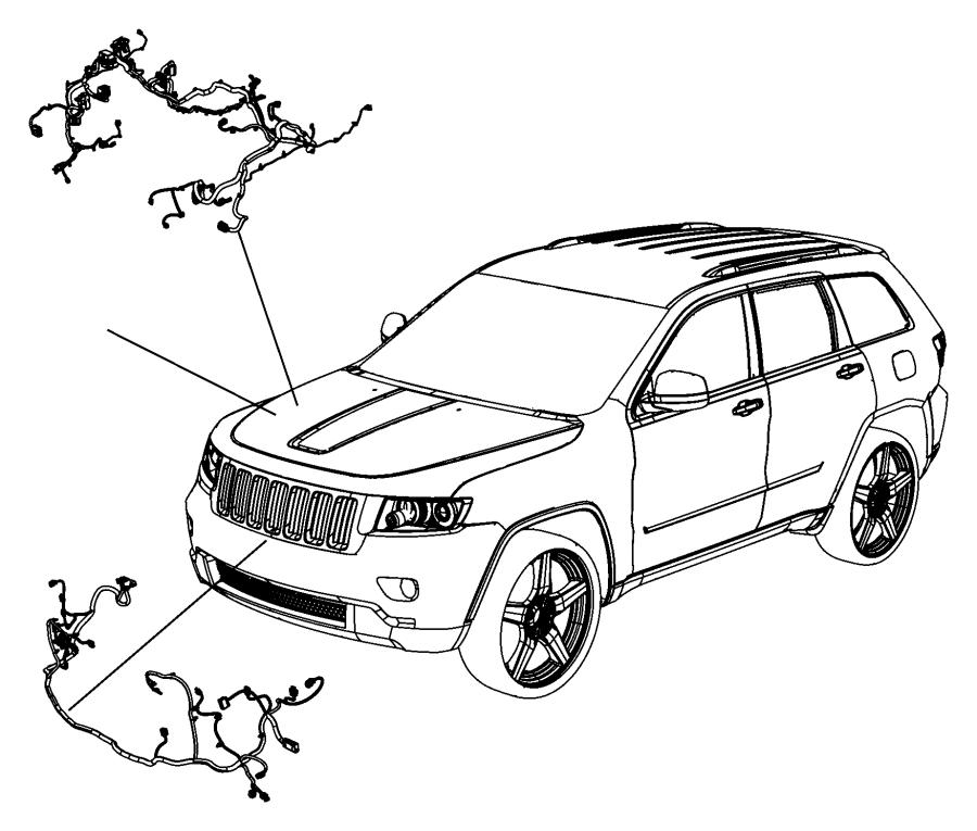 Jeep Grand Cherokee Wiring. Headlamp to dash. Export