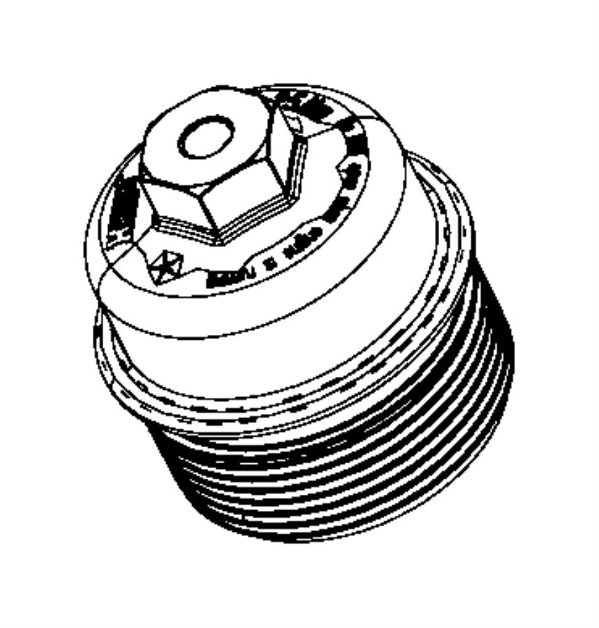 2012 Dodge Charger Engine Oil, Filter, Adapter/Cooler 3.6L