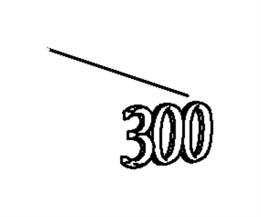 2013 Chrysler Nameplate. Decklid. 300. [300 badge