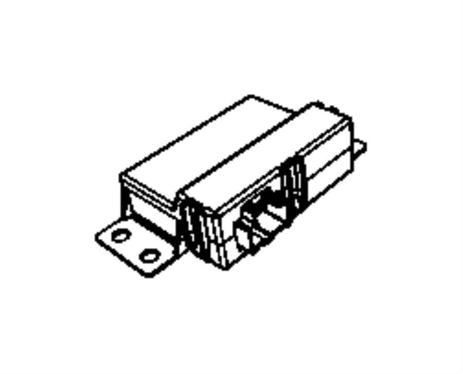 2012 Jeep Grand Cherokee Module. Blind spot detection