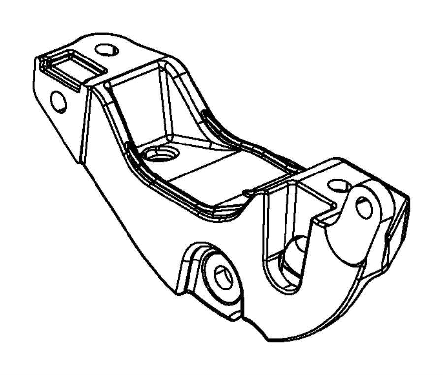 2013 Chrysler 200 Engine Mounting Rear FWD 2.4L [2.4L I4