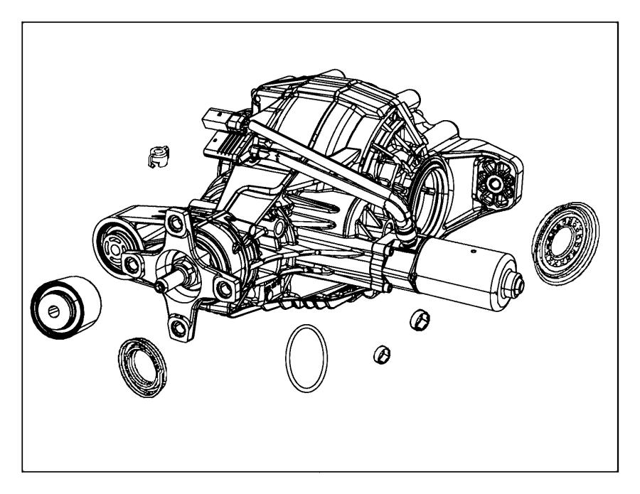 2012 Jeep Differential. Rear axle. [3.70 rear axle ratio