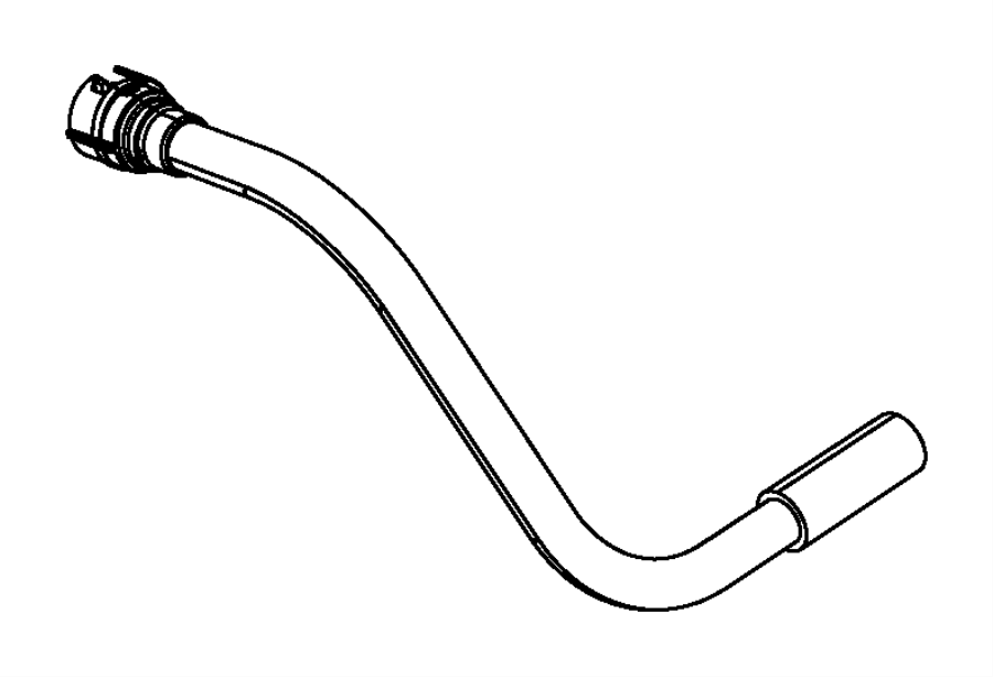 Jeep Wrangler Hose. Canister to natural vacuum leak