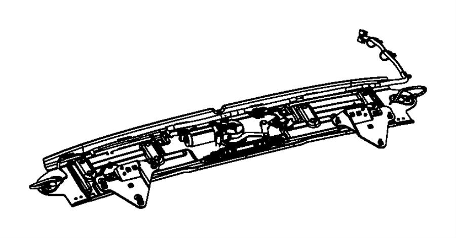 2008 Chrysler Motor. Folding top header latch. Convertable
