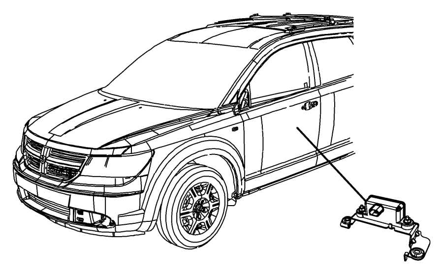 Dodge Journey Sensor. Dynamics. Used for: lateral