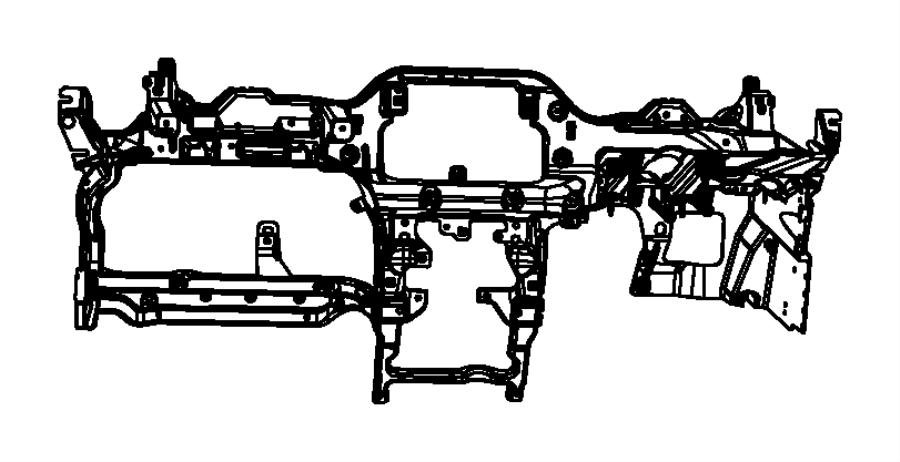 2015 Jeep Wrangler Reinforcement. Instrument panel