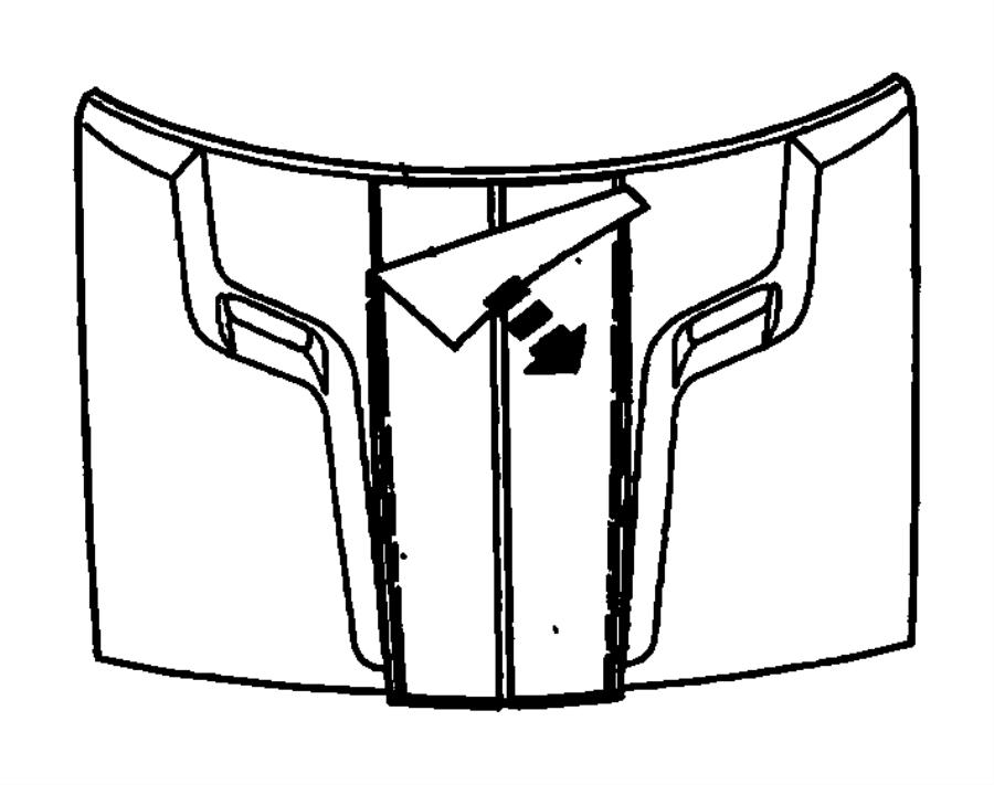 Dodge Challenger Decal. Hood. [dual black center stripes