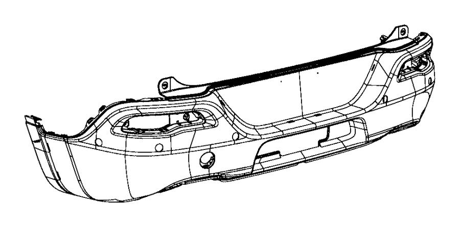 2016 Jeep Cherokee Fascia. Rear lower. [front fascias