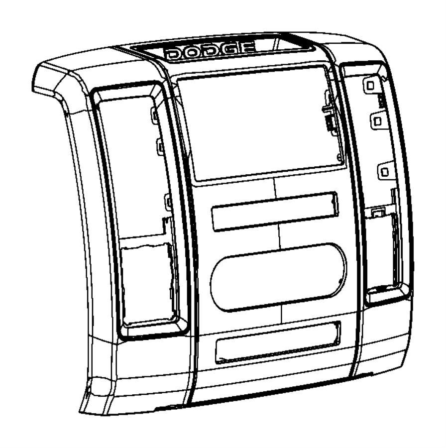 Dodge Ram 2500 Bezel. Instrument panel. Center. Trim: (*o0