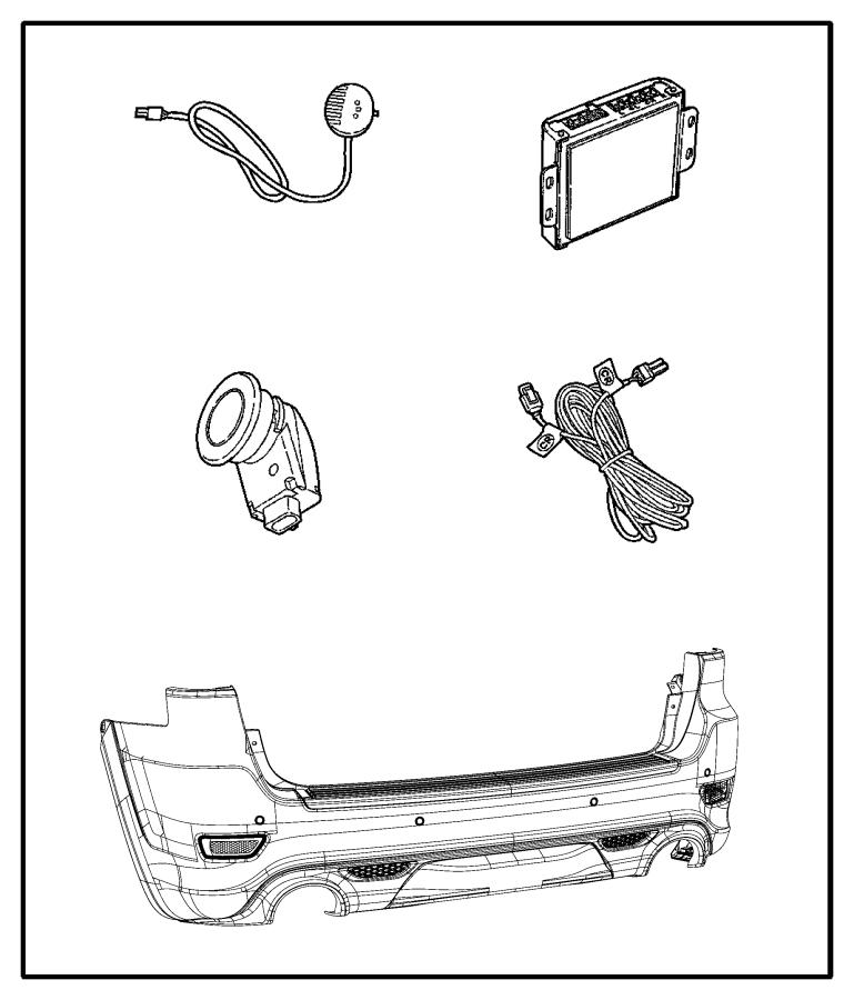 Dodge Journey Sensor. Park assist. Parkdistance
