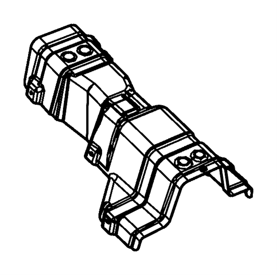 Dodge Journey Shield. Exhaust, floor pan. Tailpipe. Rear