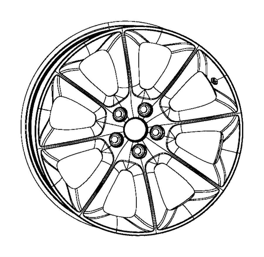 2015 Dodge Challenger Wheel. Front or rear. Aluminum