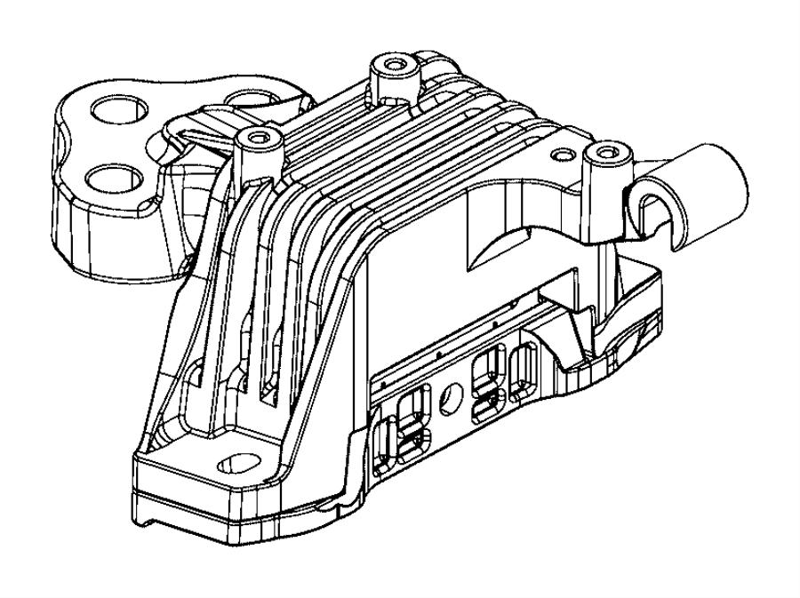 Jeep Cherokee Isolator. Transmission mount. Ede, edd
