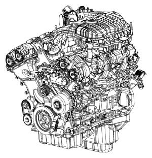 2017 Dodge Grand Caravan Engine Complete  05184464AI