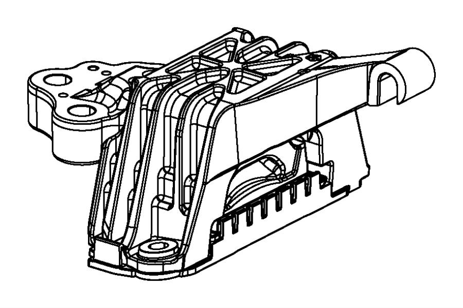 2014 Dodge Dart Isolator. Transmission mount. [6-spd c635