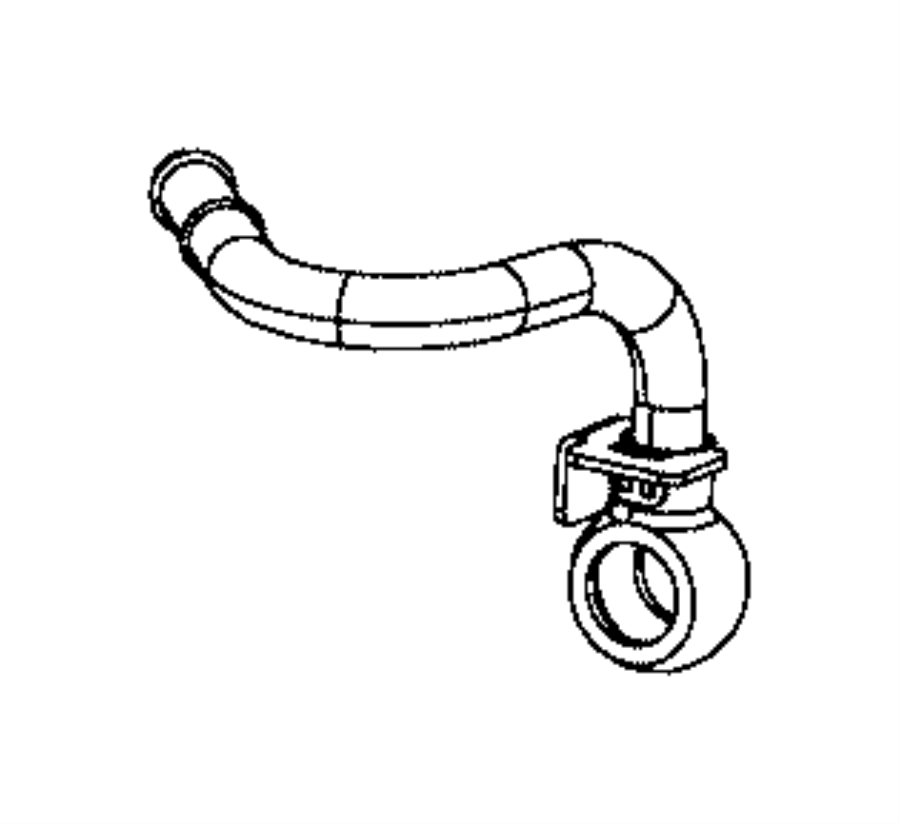2013 Dodge Dart Tube. Turbo water feed, water inlet