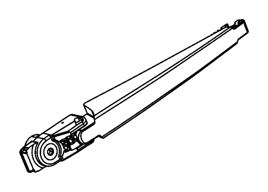 2017 Dodge Durango Arm. Rear wiper. [rear window wiper