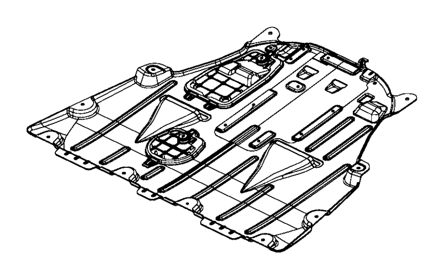 2015 Chrysler 200 Belly pan. Front. [3.6l v6 24v vvt