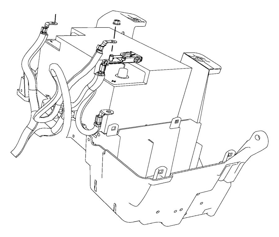 Dodge Ram 2500 Wiring. Battery, battery positive