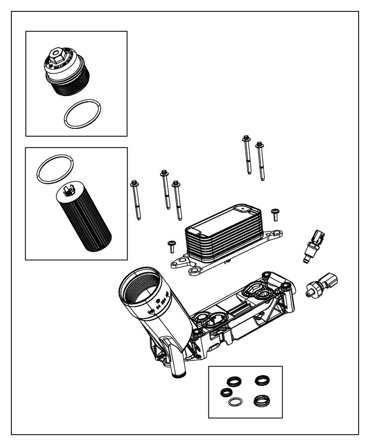 Chrysler Town & Country Cap kit. Oil filter housing