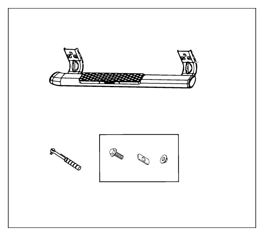 Dodge Ram 1500 Hardware kit. Mounting. Flash