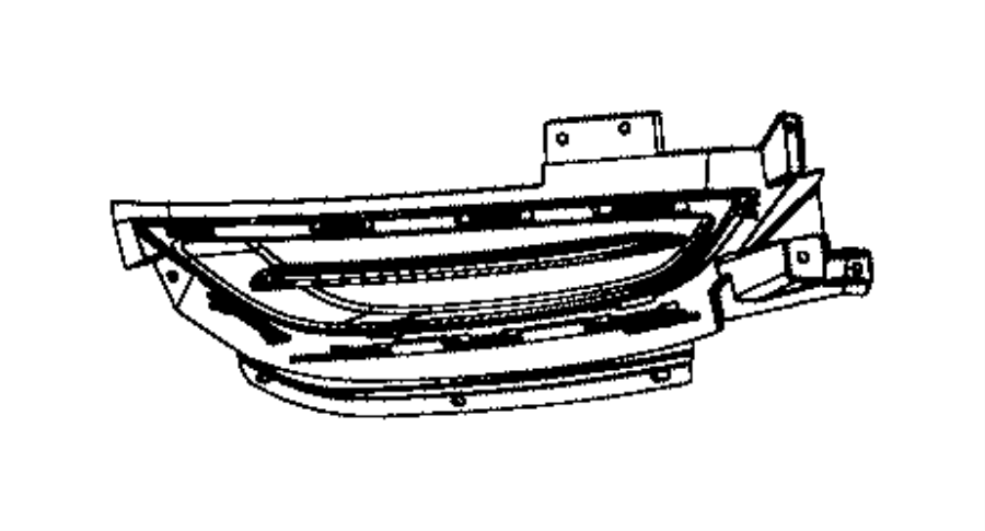 2015 Chrysler 200 Cover. Lamp opening. Left. Horizontal