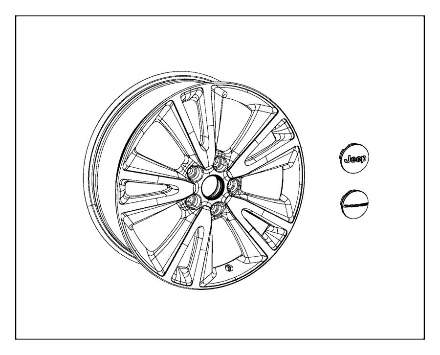 2015 Dodge Grand Caravan Cap. Wheel center. Color: [no