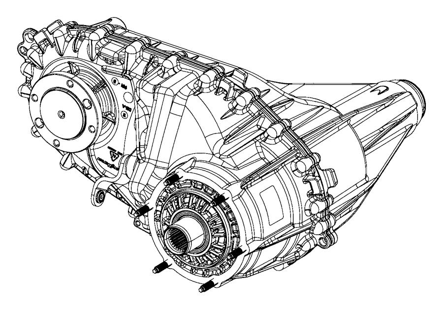 2012 Dodge Ram 2500 Transfer case. Bw 44-47