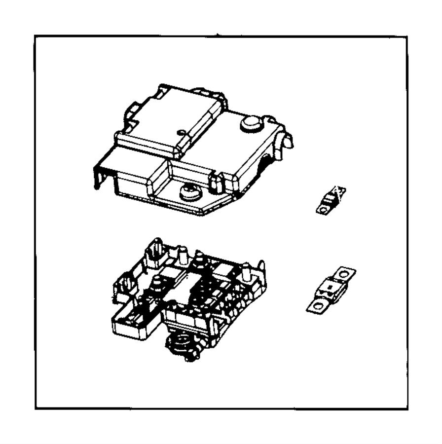 Dodge Ram 2500 Fuse. Mega. 250 amp. Upfit, connectorsrear